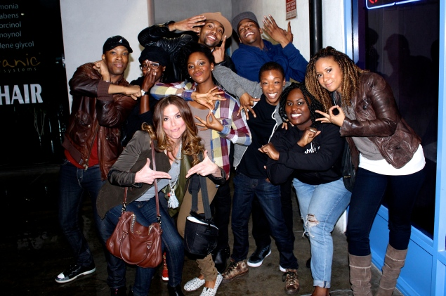 Juillard Drama Division Alumni represent from Group 30 to Group 40 (we are throwing up our group signs, NOT gang signs).